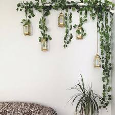 plant wall decor fake plants ideas pl on decoration leaves bunch green