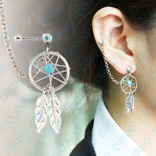 Dream Catcher Helix Earring New Arrival Fashion Girl's Body Jewelry Dream Catcher Star Helix 17