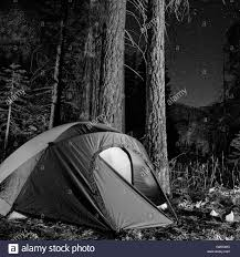 camping in the woods at night. Tent In Forest At Night, Yosemite National Park, California, USA Camping The Woods Night S