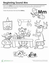 Phonics worksheets to support your child's learning and help them prepare for the year 1 phonics screening check. Beginning Sounds Coloring Sounds Like Mittens Worksheet Education Com Beginning Sounds Preschool Phonics Education Com
