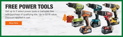 up to 2 free power tools