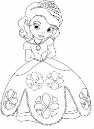 Princess Coloring Page Kleurplaat Prinses Sofia Frozen
