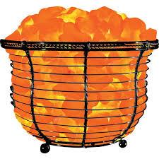 Salt Lamp Walmart Impressive Himalayan Ionic Natural Salt Basket Lamp Tall Walmart Healing