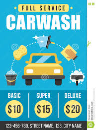 Free Car Wash Flyers Designs Carwash Poster Stock Vector Illustration Of Full Clean