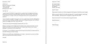 Resain Letter 4 Sample Resignation Letter With Reason Effective Immediately Top