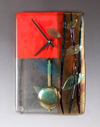 red bamboo pendulum clock by nina