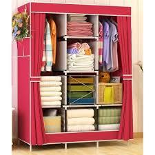 best quality king sized multifunctional dustproof big capacity wardrobe storage cabinet curtain design