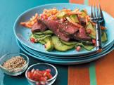 beef  california roll  salad