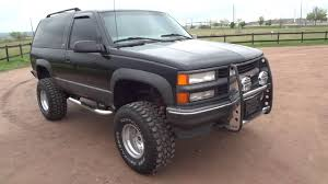 Tahoe 98 chevy tahoe lift kit : RARE 1997 Chevrolet 2 Door Tahoe Sport 4x4 Lifted Low Miles For ...