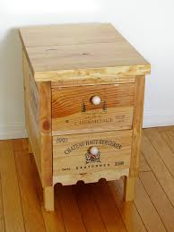 wine crate furniture. wine crate side table with drawers by palm harbor creations furniture a