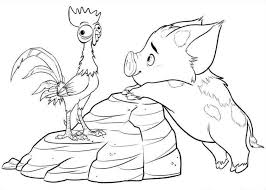 Moana Disney Coloring Pages At Getdrawingscom Free For Personal