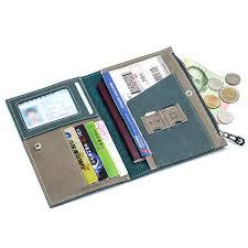 men women genuine leather minimalist wallet passport storage bag card holder coin purse cod