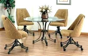 exellent dining elegant dining chair wheels chairs on casters kitchen nice in table on dining room chairs with wheels l