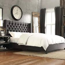 Artistic White Tufted Queen Bed In Bedroom Set Photo Of Gorgeous ...