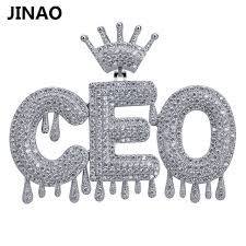 custom name iced out crown bubble letters chain pendants necklaces men s charms zircon hip hop jewelry