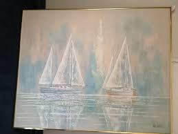 lee reynolds painting value 4x5 sail boat