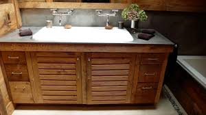 image of best double trough sink bathroom