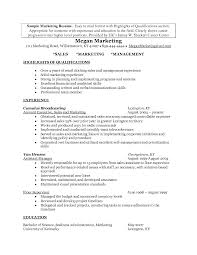 100 Sales Marketing Resume Sample Sample Resume For