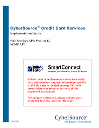 smartconnect cybersource manualzz