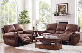 Orange Living Rooms Rossi Collection Leather 2 Piece Light Brown Living Room Set