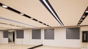 nulty ing bank uk headquarters london multifunctional gym room office ceiling lighting scheme