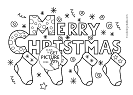 Merry Christmas Socks Coloring Pages For Kids Printable Free
