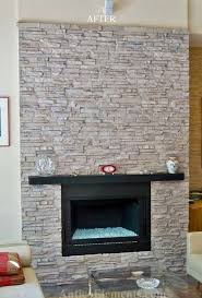 faux stone fireplacecontemporary family room miami