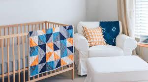 modern nursery simple wooden crib