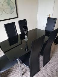harveys milan black glass c black glass extending dining table 6 chairs 2018 extendable dining table