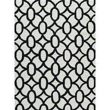 frank hand hooked grey black area rug