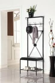 tree shaped coat rack furniture tall narrow metal storage cushioned leather  bench with and shoe racks