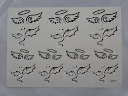 Klasické Střední Tetování Anděl A čert Skladem