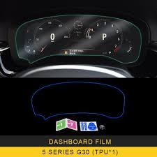 For Bmw 5 Series G30 2017 2018 2019 Auto Car Dashboard Film Monitor Screen Protector Gear Shift Protective Tpu Film Sticker Interior Truck Parts
