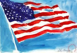 american flag painting leroy neiman american flag art print