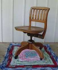 desk sold oak 1920 antique swivel adjule desk chair harp old wooden swivel office chair
