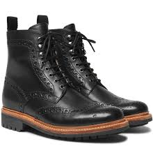 Mens Designer Boots Fred Leather Brogue Boots Leather Brogues Mens Designer