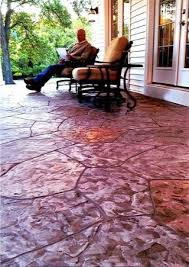 acid stain concrete patios