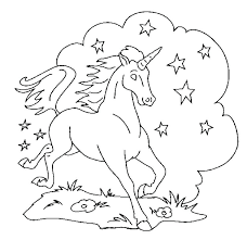 Unicorn With Wings Coloring Pages Free Printable Unicorn Coloring