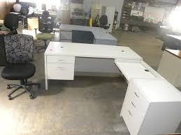large white l shaped desk