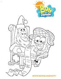 Coloring Page Spongebob Squarepants Christmas Pages Color