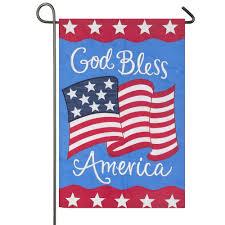 bless america patriotic garden flag