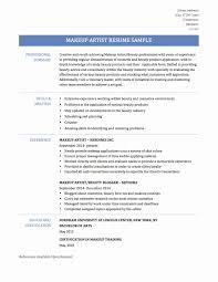 Resume Format For Makeup Artist Inspirational Professional Letter Of