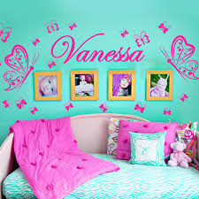 custom personalised name butterflies decoration wall art baby girl regarding room decorations design 13 on little girl bedroom wall art with little girl room wall decor geekysmitty com intended for decorations