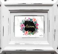 french country vintage inspired photo frame dream white frame 6x4inch new