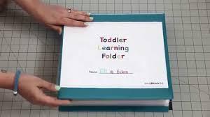 Toddler Learning Folder Youtube