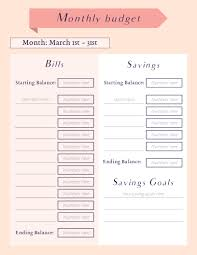 Schedule Monthly Template Monthly Budget Planner Schedule Template Visme