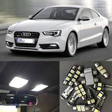 Audi A5 Interior Led Lights Us 17 5 17pcs Canbus Car White Led Light Bulbs Interior Package Kit For 2008 2012 Audi A5 S5 Map Dome License Plate Light Lamp No Error In Signal