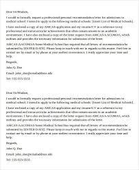 Letter Of Recommendation For Medical Doctor Letter Of Recommendation Doctor Calmlife091018 Com