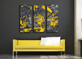abstract, modern, yellow, grey, contemporary, wall art, canvas prints,