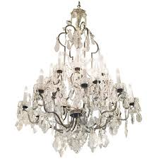 1940s large crystal chandelier from the new york city plaza hotel with 20 lights for